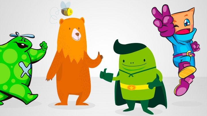 Creación de personajes de ficción para club de fidelización infantiles