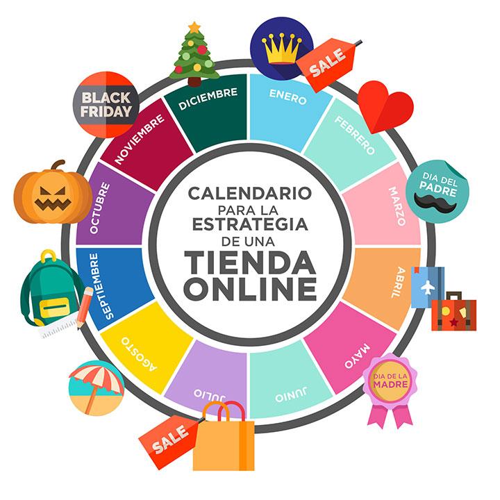 Calendario emailing tienda online