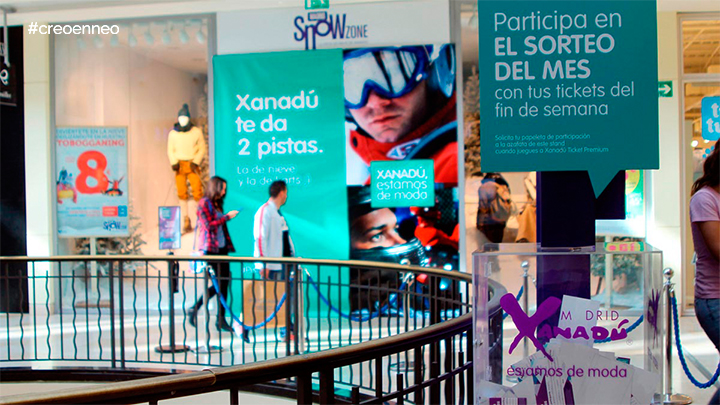 Acciones promocionales en un Centro Comercial